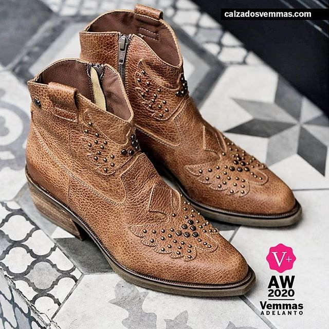 Botitas texanas marrones invierno 2020 Calzado Vemmas