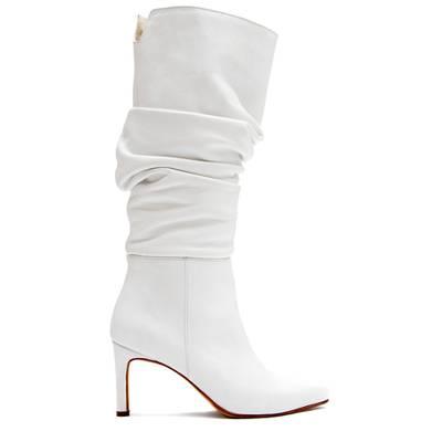 botas arrugada blanca otoño invierno 2020 Justa Osadia