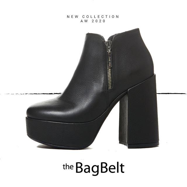 botas negras taco alto y plataformas invierno 2020 by The Bag Belt