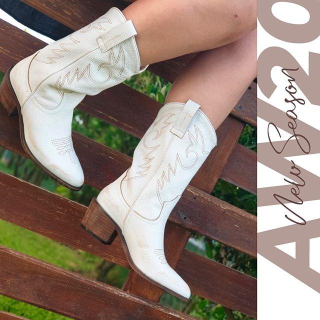botas texanas blancas invierno 2020 Laura Constanza Calzados
