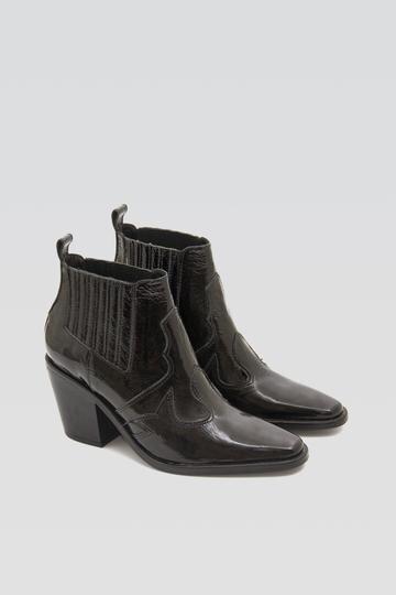 botas texanas charol negro otoño invierno 2020 Bendito Pie