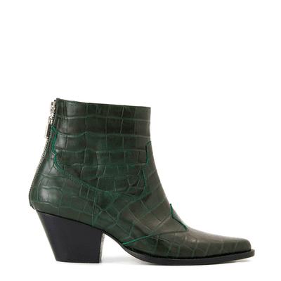 botas verde crocco cuero otoño invierno 2020 Justa Osadia