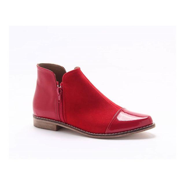 botitas rojas invierno 2020 Lady Comfort
