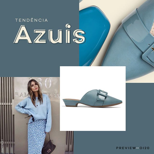 mules azules invierno 2020 Calzado Piccadilly