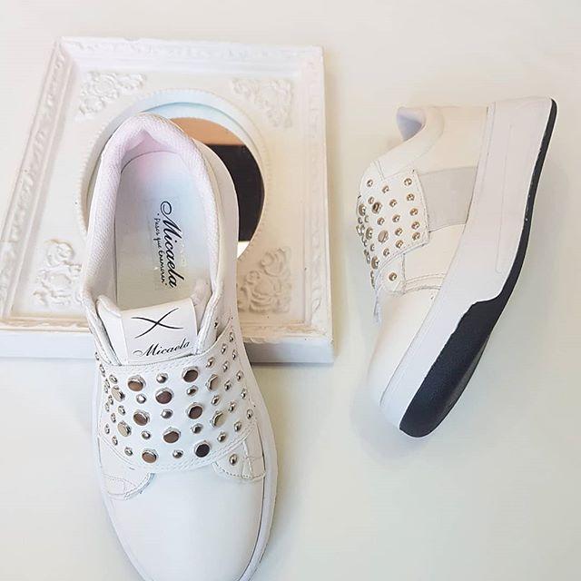 zapatillas blancas con elastico invierno 2020 Calzados Micaela