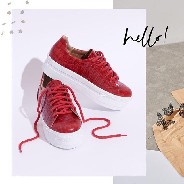 zapatillas rojas croco cuero invierno 2020 Sofi Martire