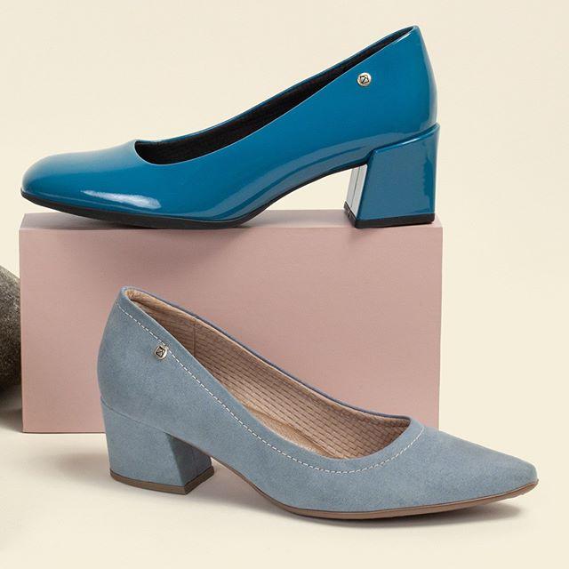 zapatos punta redonda tonos azules invierno 2020 Calzado Piccadilly