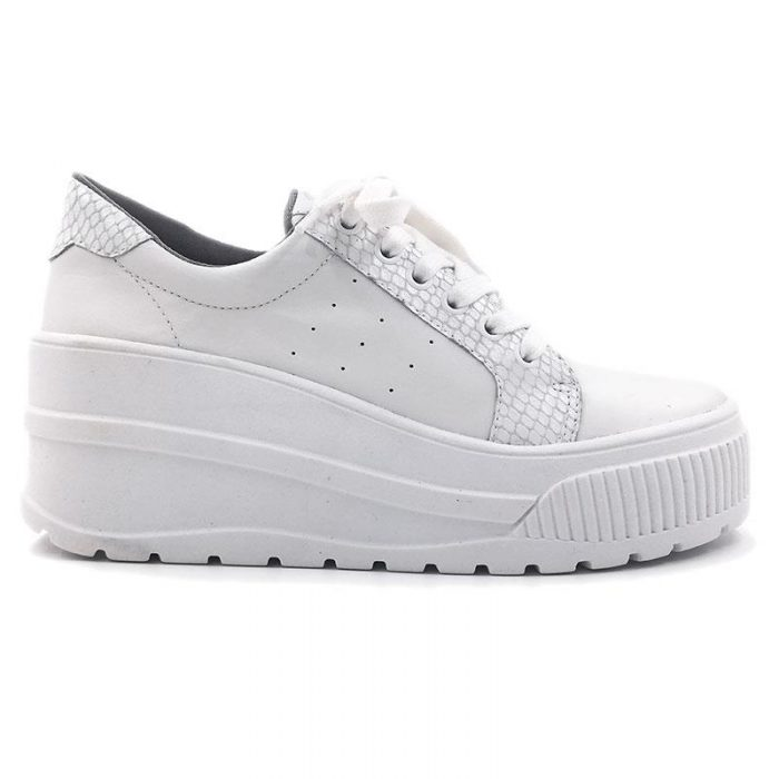 zapatillas blanca con plataformas Hush Puppies