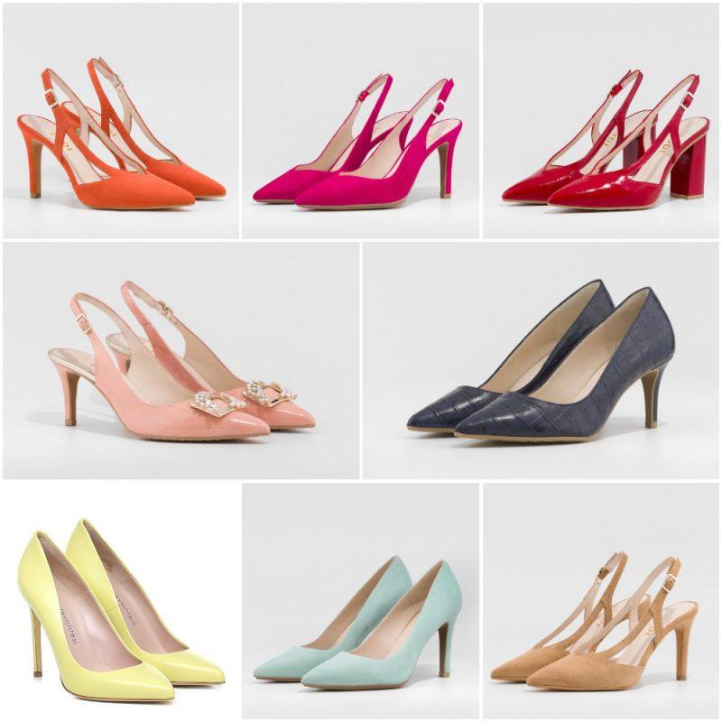 Colores de moda para sandalias y zapatos primavera verano 2021 Argentina