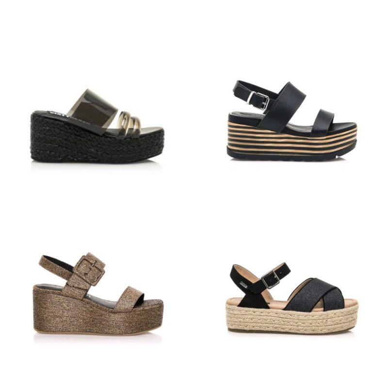 Sandalias con base alta sandalias de moda verano 2021 Argentina