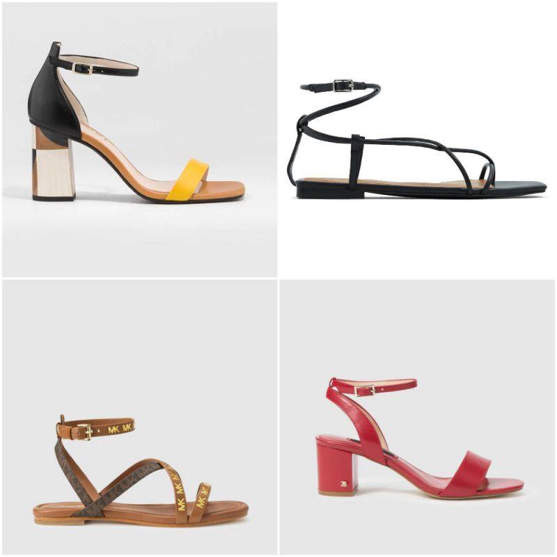 Sandalias con hebillas en el tobillo sandalias de moda verano 2021 Argentina