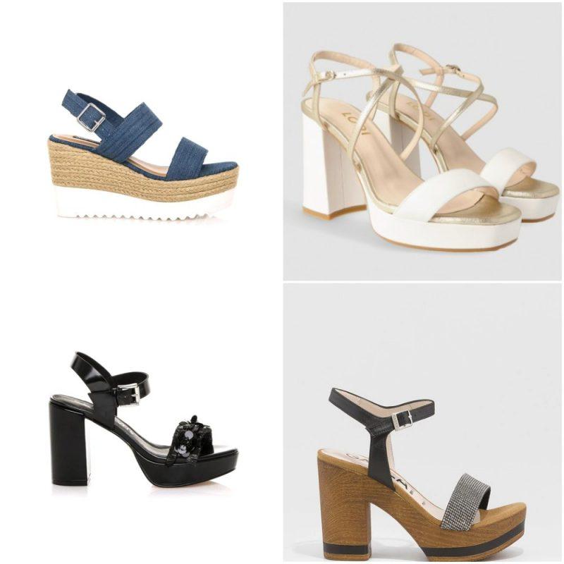 Sandalias con plataformas sandalias de moda verano 2021 Argentina