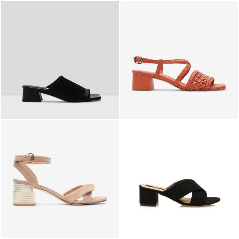 Sandalias con taco cuadrado medio sandalias de moda verano 2021 Argentina