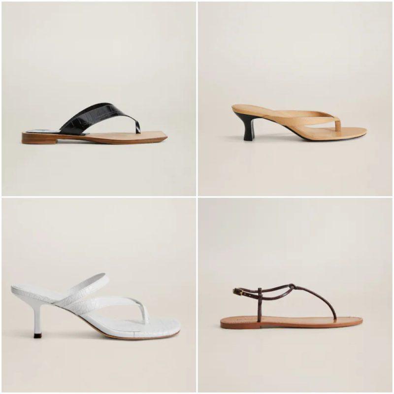 Sandalias estilo ojotas primavera verano 2021 Tendencias de moda en calzados