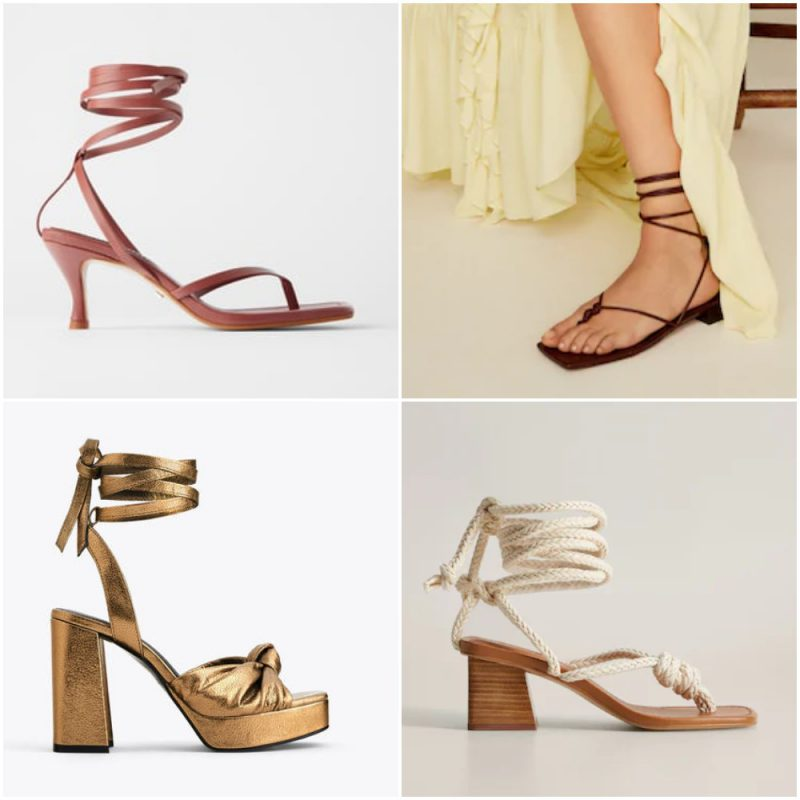 Sandalias gladiadoras primavera verano 2021 Tendencias de moda en calzados