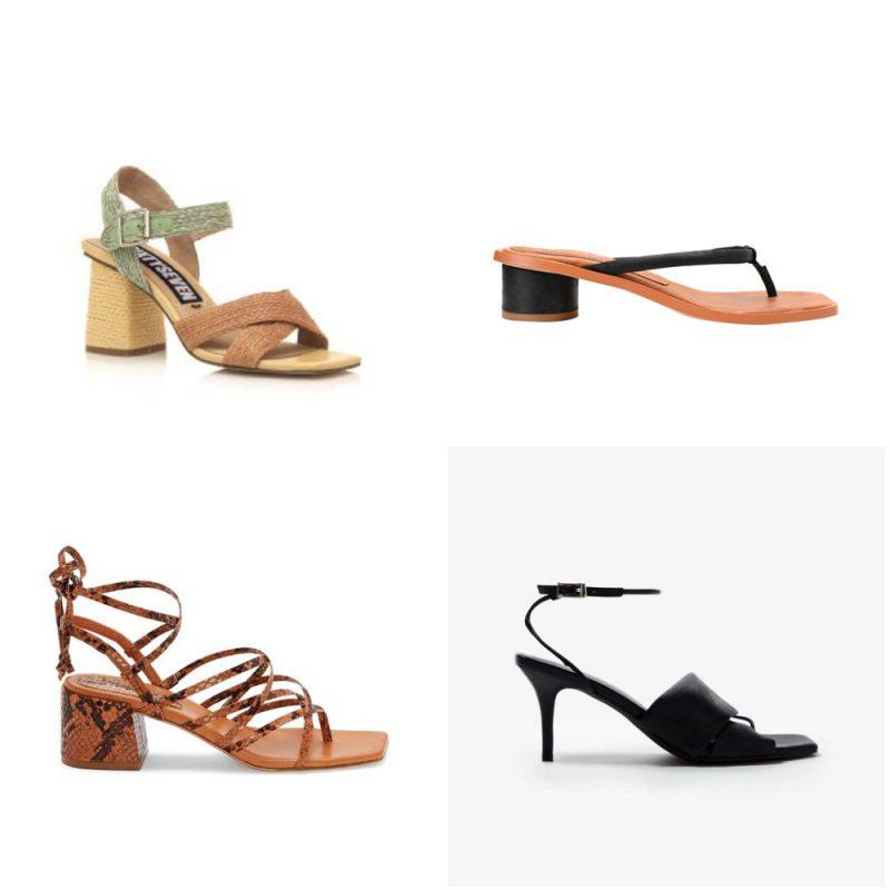 Sandalias punta cuadrada sandalias de moda verano 2021 Argentina