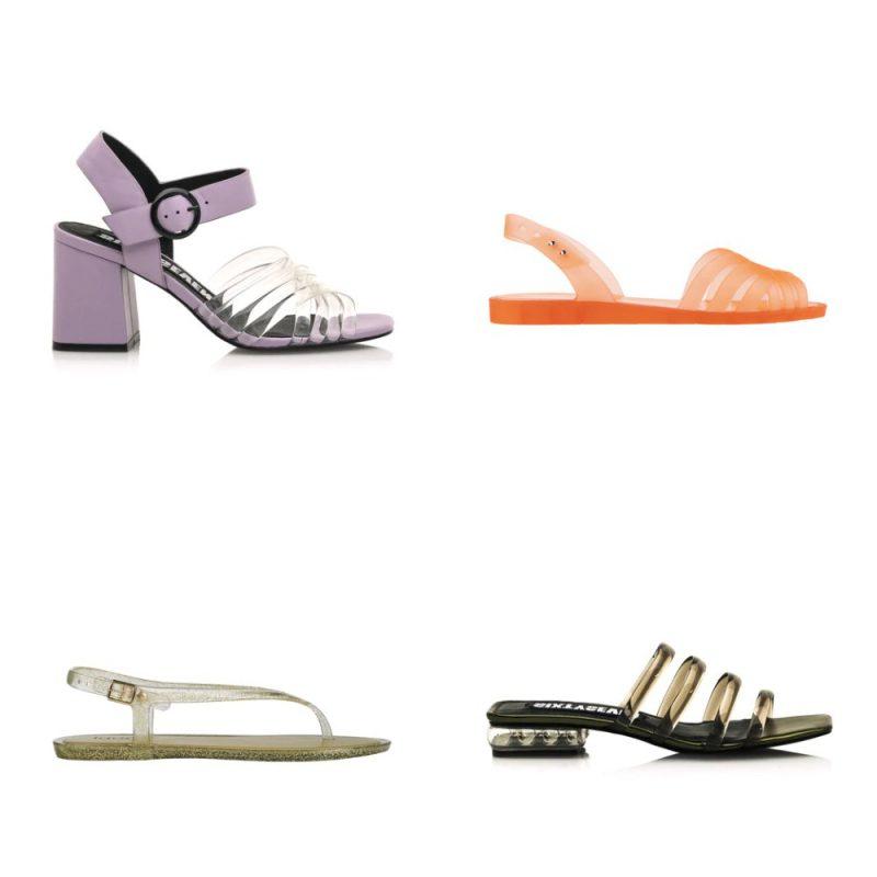 Sandalias transparentes de colores sandalias de moda verano 2021 Argentina