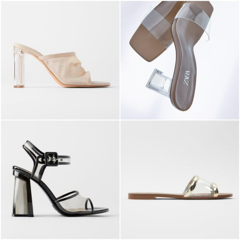 Sandalias transparentes primavera verano 2021 Tendencias de moda en calzados