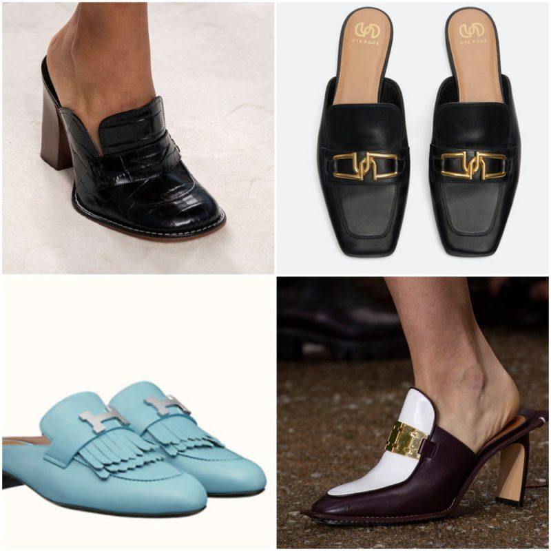 mocasines destalonados primavera verano 2021 Tendencias de moda en calzados