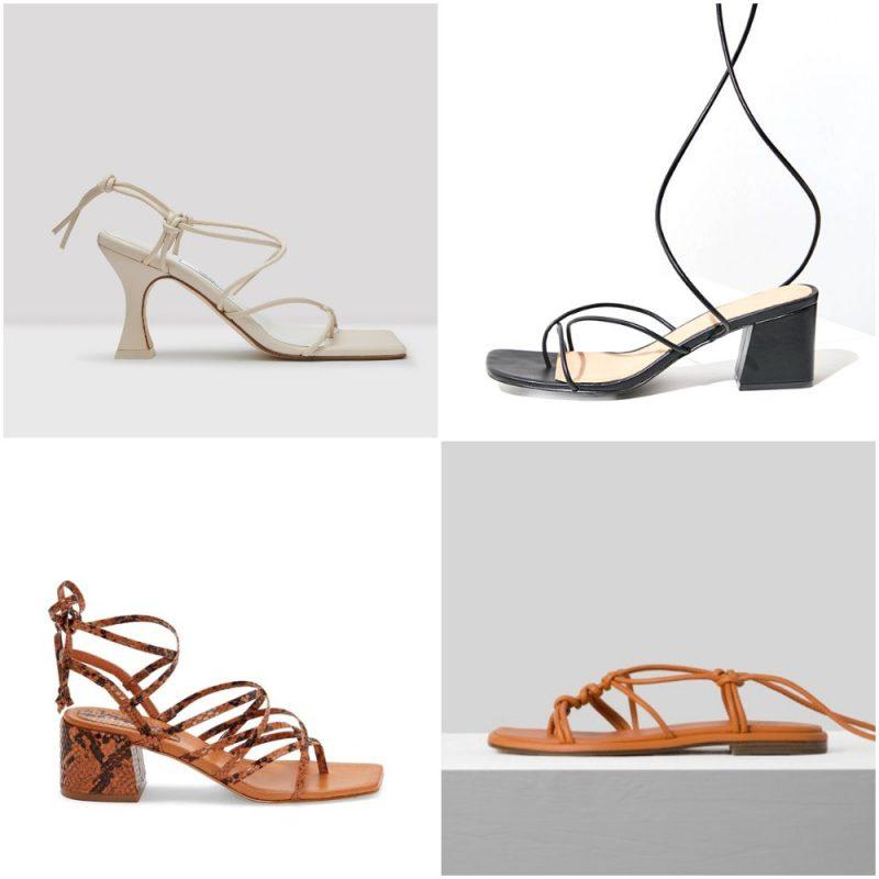 sandalias atadas en los tobillos sandalias de moda verano 2021 Argentina