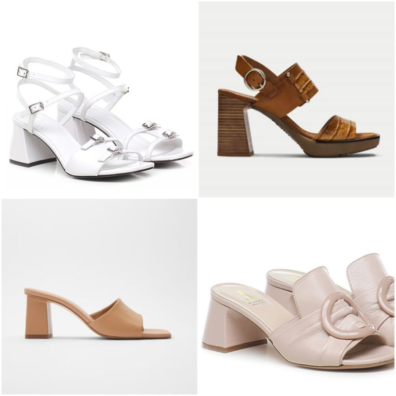 taco triangular primavera verano 2021 Tendencias de moda en calzados 1