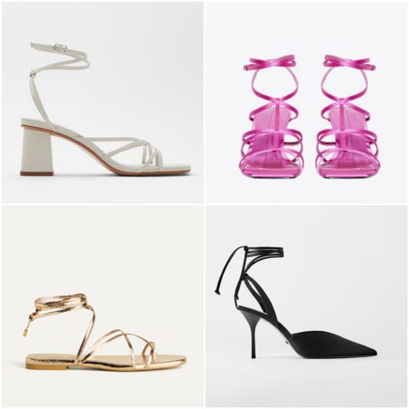 zapatos y sandalias atadas en el tobillo primavera verano 2021 Tendencias de moda en calzados 1
