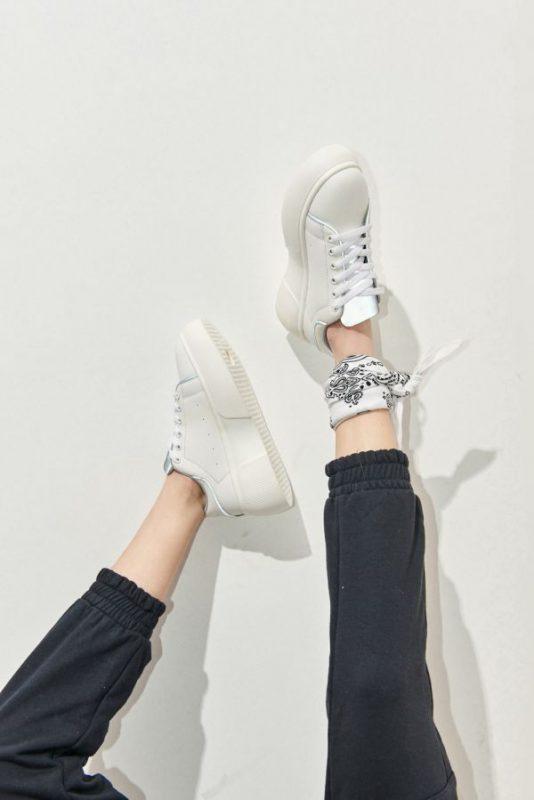 Zapatillas blancas calzado juvenil verano 2021 47 Street