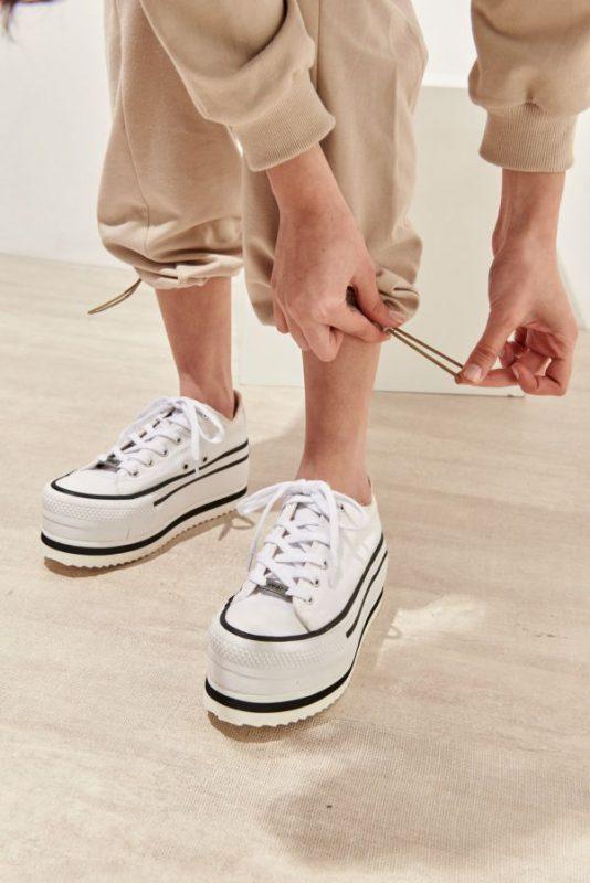 Zapatillas de lona con plataformas calzado juvenil verano 2021 47 Street