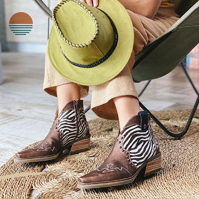 botas texanas con estampa cebra Rocas Calzado primavera verano 2021