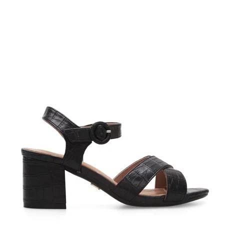 sandalias negras taco medio verano 2021 Lady Stork