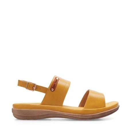 sandalias planas amarillas verano 2021 Lady Stork