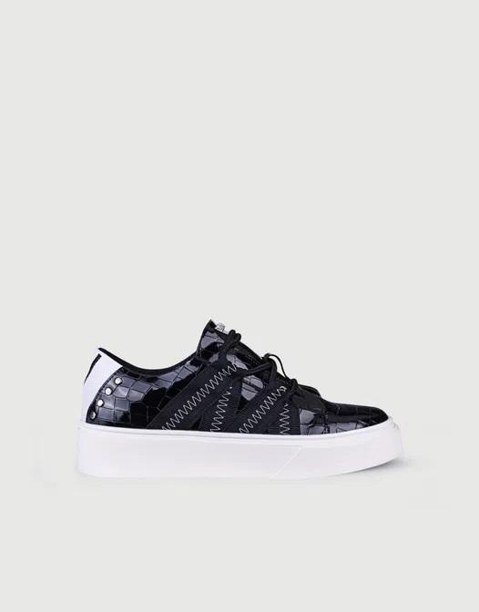 zapatillas negras mujer primavera verano 2021 Calzados Viamo