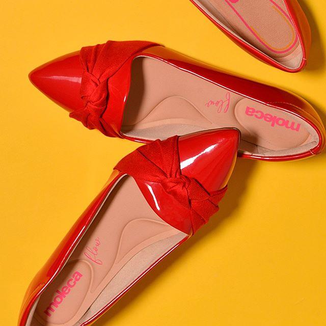 zapatos rojos de charol verano 2021 Calzados Moleca