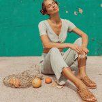 Sandalias planas de cuero verano 2021 - Las Motas