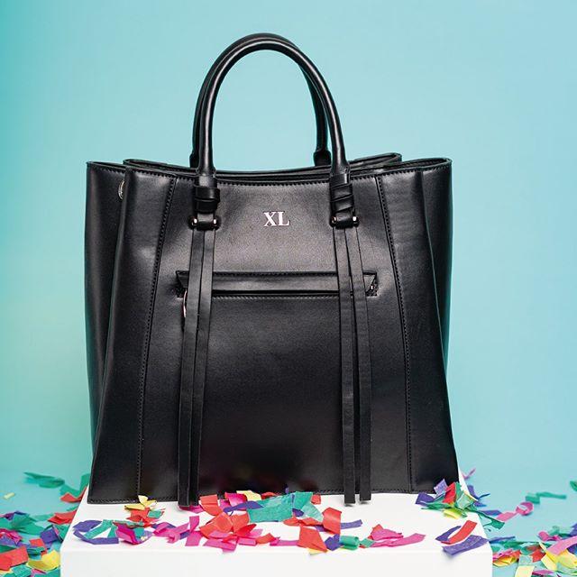 cartera negra elegante con asas cortas verano 2021 XL Extra Large