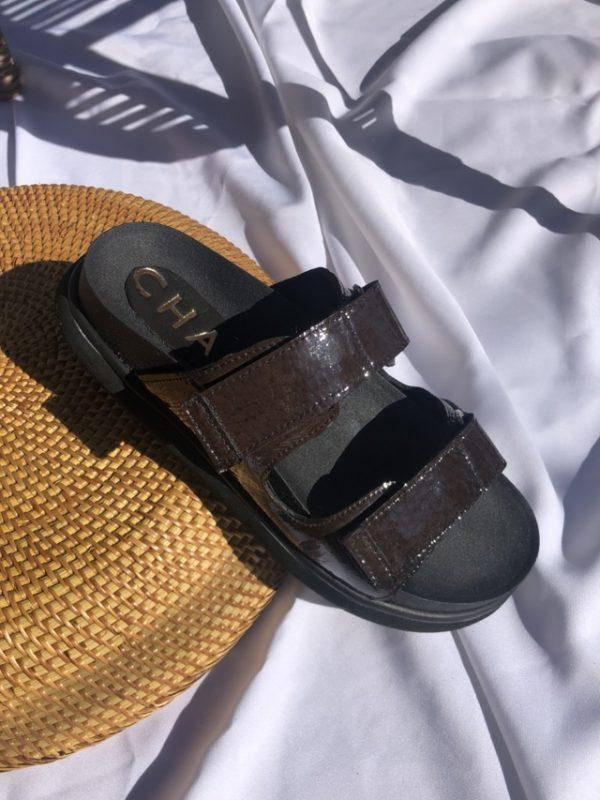 sandalias negras verano 2021 Chao shoes