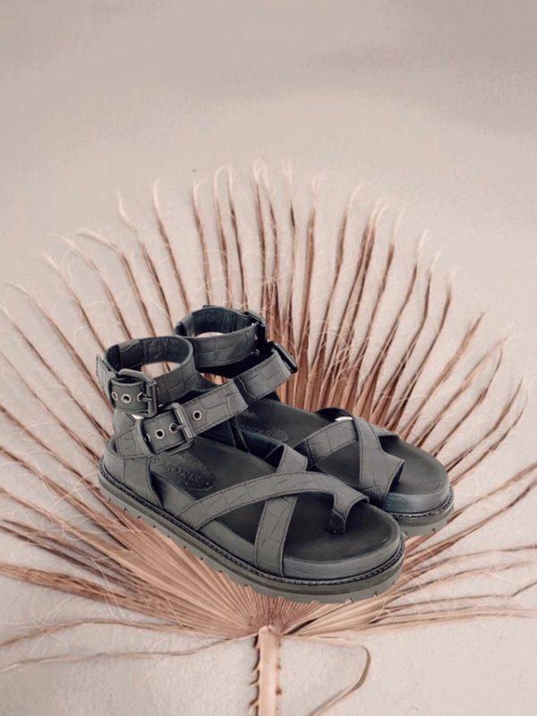 sandalias negras verano 2021 Las Motas