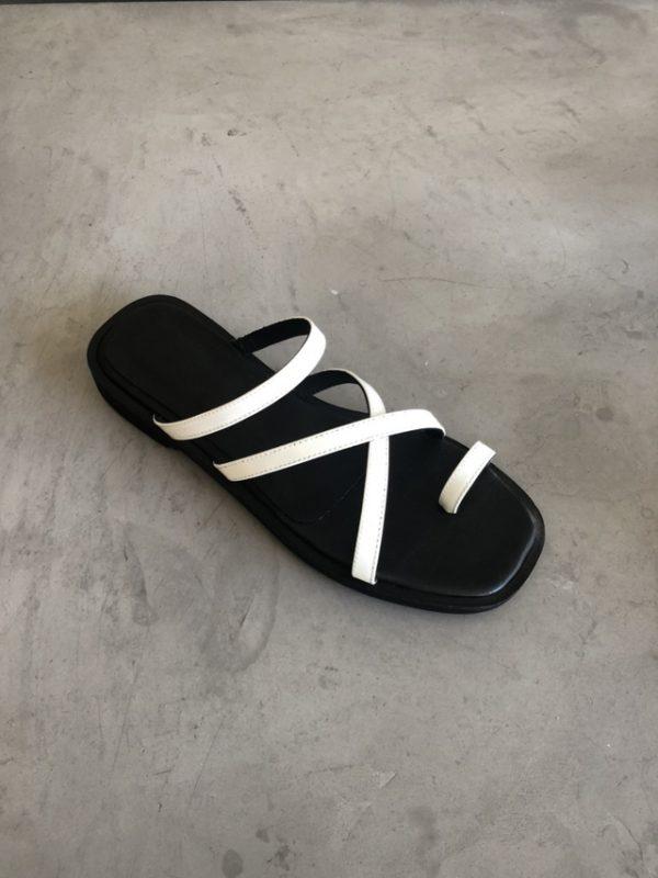 sandalias planas tiras finas verano 2021 Chao shoes