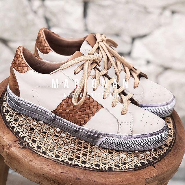 zapatillas de cuero para mujer verano 2021 Marignan Shoes