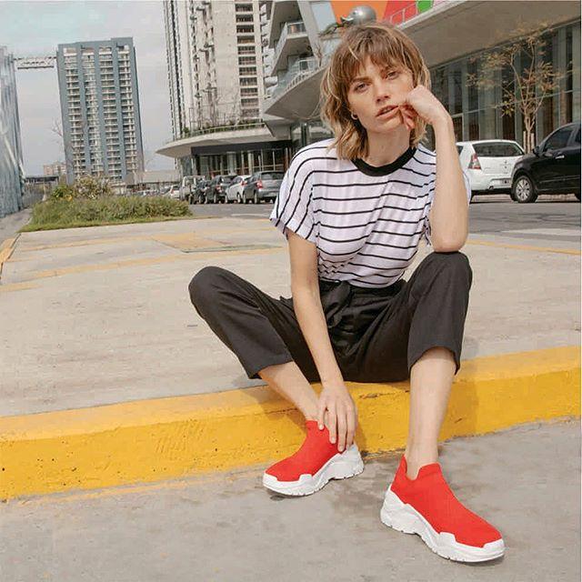 zapatillas rojas primavera verano 2021 Sky Blue