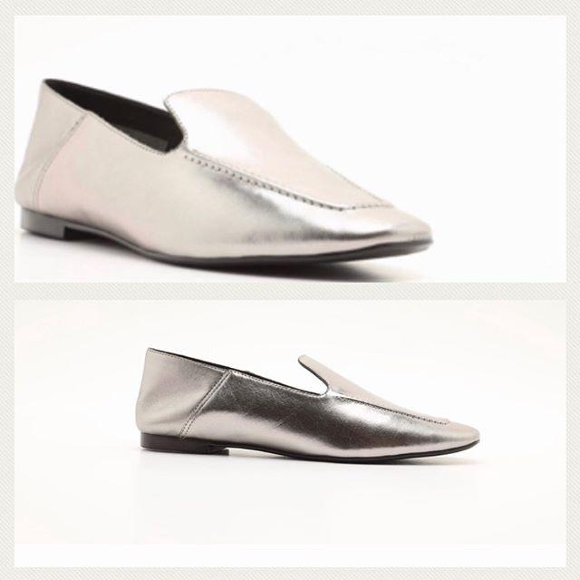 zapatos planos metalizados verano 2021 Perugia
