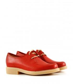zapatos rojos abotinados para mujer Calzados Batistella verano 2021