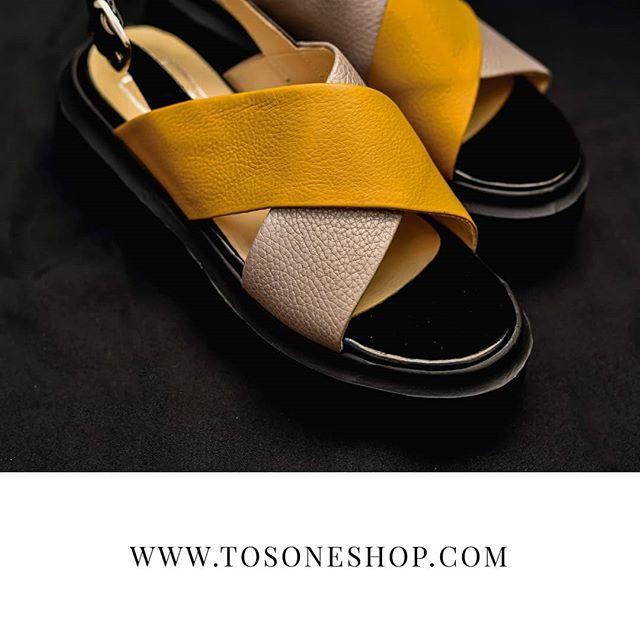 sandalias amarillas verano 2021 mujer Tosone
