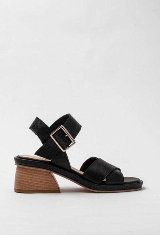 sandalias negras taco madera verano 2021 Sofi Martire