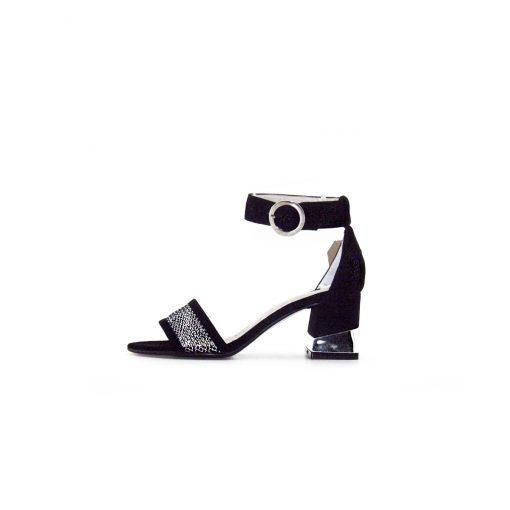 sandalias negras taco medio verano 2021 Calzados Valerio