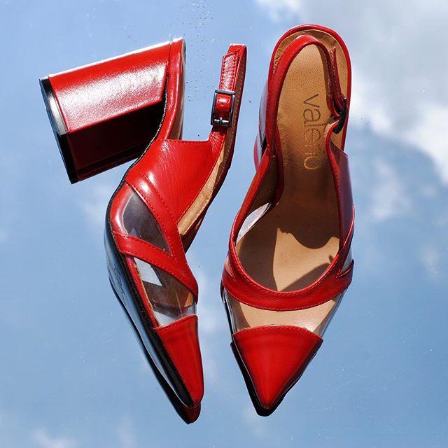 stilettos rojos y transparentes verano 2021 Calzados Valerio