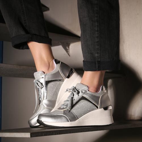 zapatillas plateadas verano 2021 Calzado Fragola