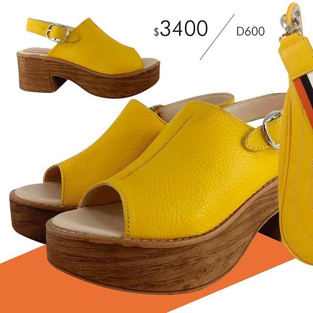 zuecos amarillos Di Nizo verano 2021