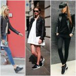 Outfits con zapatillas negras
