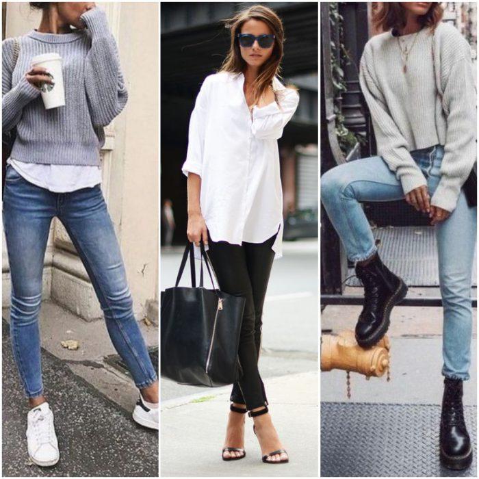 Ideas de calzados para jeans ajustados